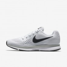 Womens White/Pure Platinum/Wolf Grey/Anthracite Nike Air Zoom Pegasus 34 Running Shoes 101VUOHP
