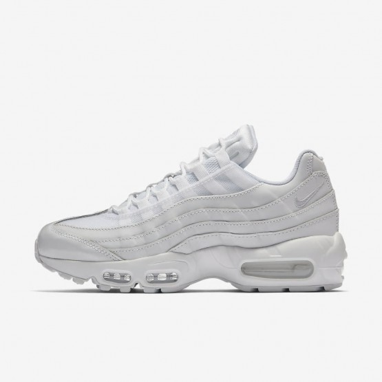 Womens White Nike Air Max 95 OG Lifestyle Shoes 101WYDBT