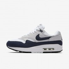 Nike Air Max 1 Lifestyle Shoes For Women White/Pure Platinum/Black/Obsidian 105PHWAL
