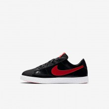 Girls Black/Bleached Coral/Speed Red Nike Blazer Low QS Lifestyle Shoes 105ROFTQ