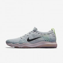 Womens Pure Platinum/Barely Rose/Elemental Rose/Anthracite Nike Air Zoom Fearless Flyknit Lux Training Shoes 110RPKXD