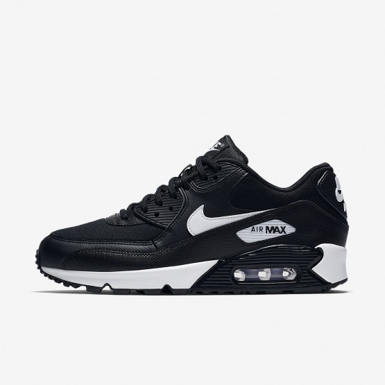 Womens Black/White Nike Air Max 90 Lifestyle Shoes 124NZQIJ
