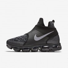 Mens Black/Anthracite/Team Orange/Reflect Silver Nike Air VaporMax Chukka Slip Lifestyle Shoes 125BZUCP