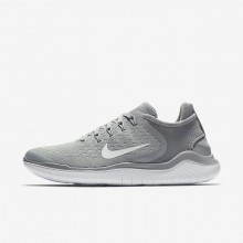Womens Wolf Grey/White/Volt Nike Free RN 2018 Running Shoes 133GMEDT