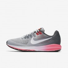 Womens Dark Grey/Wolf Grey/Hot Punch/White Nike Air Zoom Structure 21 Running Shoes 146GBCEN
