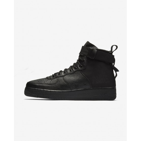 Mens Black Nike SF Air Force 1 Mid Lifestyle Shoes 147GZDJT