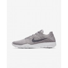 Womens Atmosphere Grey/White/Gunsmoke Nike Free TR Flyknit 2 Training Shoes 147LTKAF