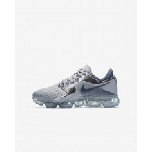 Boys Wolf Grey/Metallic Silver/Anthracite/Light Carbon Nike Air VaporMax Running Shoes 159CFMDV