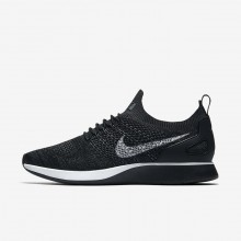 Mens Black/Anthracite/Dark Grey/Pure Platinum Nike Air Zoom Mariah Flyknit Racer Lifestyle Shoes 172NVHRZ