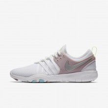 Womens White/Elemental Rose/Volt Glow/Metallic Silver Nike Free TR7 Training Shoes 179BLACW