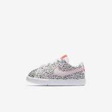Nike Blazer Low QS Lifestyle Shoes For Girls White/Black/Bright Crimson 187MQLEO