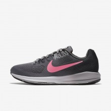 Womens Gunsmoke/Anthracite/Atmosphere Grey/Sunset Pulse Nike Air Zoom Structure 21 Running Shoes 187ZMUDC
