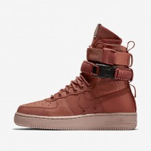 Womens Dusty Peach/Particle Pink Nike SF Air Force 1 Lifestyle Shoes 206EBQOJ