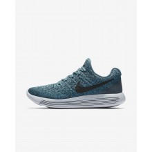 Womens Iced Jade/Dark Atomic Teal/Blustery/Black Nike LunarEpic Low Flyknit 2 Running Shoes 208KVYXB