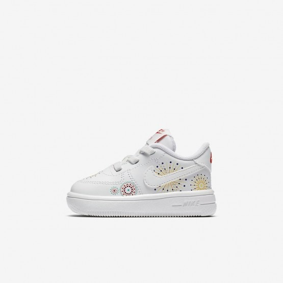 Girls Summit White/Habanero Red/Kinetic Green Nike Air Force 1 Pinnacle QS Lifestyle Shoes 211QLUKR