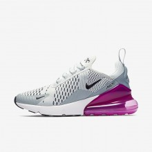 Womens Barely Grey/Light Pumice/Fuchsia Blast/Black Nike Air Max 270 Lifestyle Shoes 214NOTPS