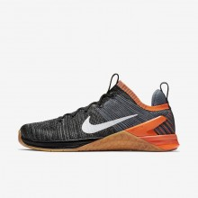 Mens Black/Hyper Crimson/Light Carbon/White Nike Metcon DSX Flyknit 2 Training Shoes 216TSWIV