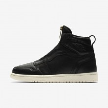Air Jordan 1 High Zip Lifestyle Shoes For Women Black/University Red/Sail 217QKNMJ