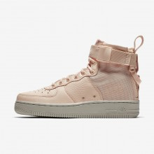 Chaussure Casual Nike SF Air Force 1 Mid Femme Orange/Grise 223UVPDG