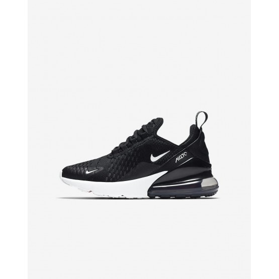 Boys Black/Anthracite/White Nike Air Max 270 Lifestyle Shoes 225CFLXP