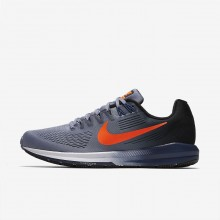 Mens Dark Sky Blue/Black/Navy/Total Crimson Nike Air Zoom Structure 21 Running Shoes 232SCZFT
