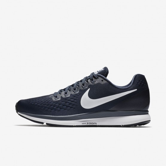 Mens Obsidian/Thunder Blue/Black/White Nike Air Zoom Pegasus 34 Running Shoes 238DIOPH