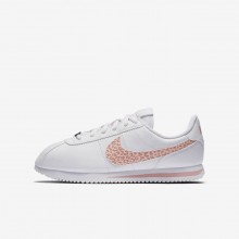 Chaussure Casual Nike Cortez Basic SL Fille Blanche/Rose/Corail 240FGENP