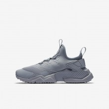 Nike Huarache Run Drift Lifestyle Shoes For Boys Wolf Grey/White 241OTMSD