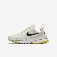 Boys Light Bone/Vivid Sulfur/Velvet Brown Nike Presto Fly Lifestyle Shoes 243CWAEF