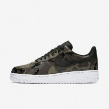 Mens Medium Olive/Baroque Brown/Sequoia/Black Nike Air Force 1 07 Low Lifestyle Shoes 244ZMWIO