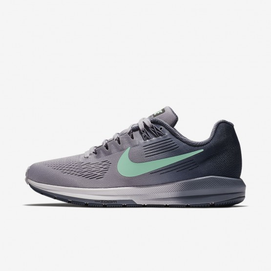 Womens Provence Purple/Thunder Blue/Light Carbon/Green Glow Nike Air Zoom Structure 21 Running Shoes 251DCMYE