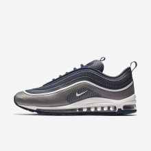 Mens Navy/Light Carbon/White Nike Air Max 97 Ultra 17 Lifestyle Shoes 256WVJZA