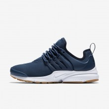 Nike Air Presto Lifestyle Shoes For Women Navy/Obsidian/Gum Light Brown 260HDZBA