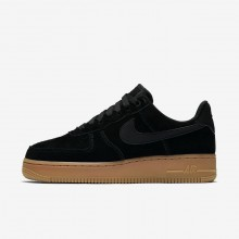 Nike Air Force 1 07 SE Lifestyle Shoes For Women Black/Gum Medium Brown/Ivory 264OAYEB