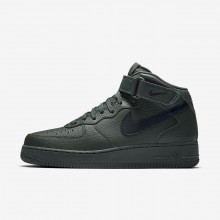Mens Grove Green/Black Nike Air Force 1 Mid 07 Lifestyle Shoes 273UWSCH