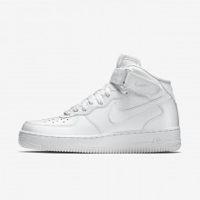 Mens White Nike Air Force 1 Mid 07 Lifestyle Shoes 281ZCPKQ