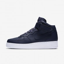Mens Obsidian/White Nike Air Force 1 Mid 07 Lifestyle Shoes 284YTIZQ