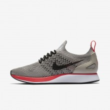 Womens String/White/Solar Red/Black Nike Air Zoom Mariah Flyknit Racer Lifestyle Shoes 298XQYVT