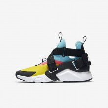 Nike Huarache City Lifestyle Shoes For Boys Tour Yellow/Bleached Aqua/Racer Pink/Anthracite 302DMJSC