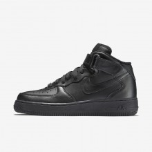 Womens Black Nike Air Force 1 Mid 07 Lifestyle Shoes 303JLQNT