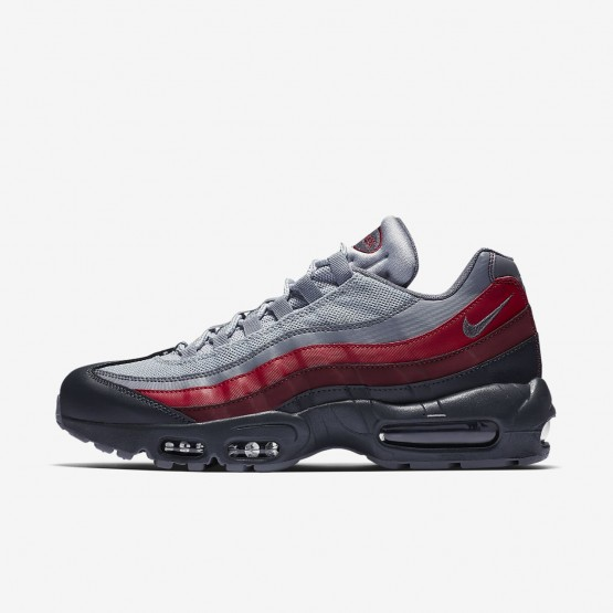 Mens Anthracite/Wolf Grey/Team Red/Cool Grey Nike Air Max 95 Essential Lifestyle Shoes 306JBFOC