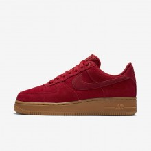 Nike Air Force 1 07 SE Lifestyle Shoes For Women Gym Red/Gum Light Brown/Speed Red 311AOUHY