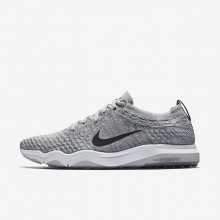 Womens Wolf Grey/White/Anthracite Nike Air Zoom Fearless Flyknit Lux Training Shoes 316RADVY