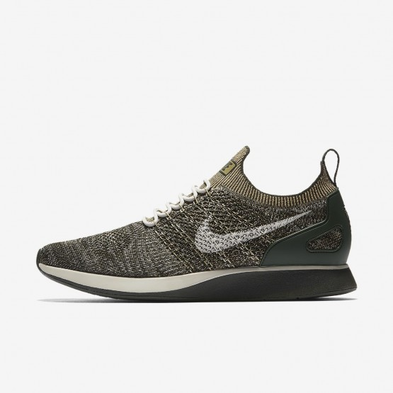 Mens Sequoia/Light Bone/Neutral Olive Nike Air Zoom Mariah Flyknit Racer Lifestyle Shoes 320MOUYC