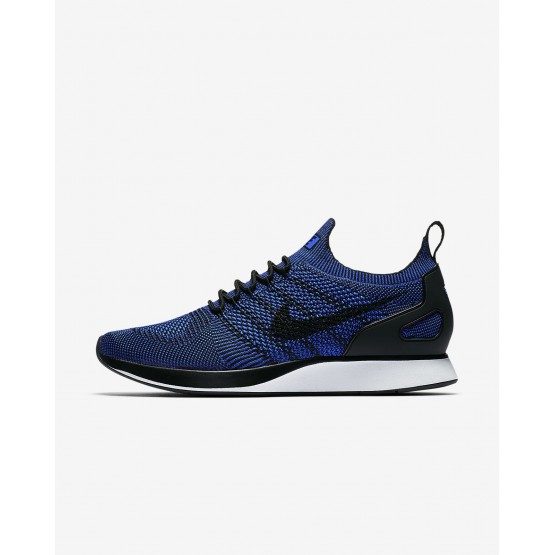 Mens Black/White/Racer Blue Nike Air Zoom Mariah Flyknit Racer Lifestyle Shoes 320UDVFW