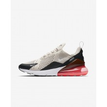 Mens Black/Hot Punch/White/Light Bone Nike Air Max 270 Lifestyle Shoes 321GEOPW
