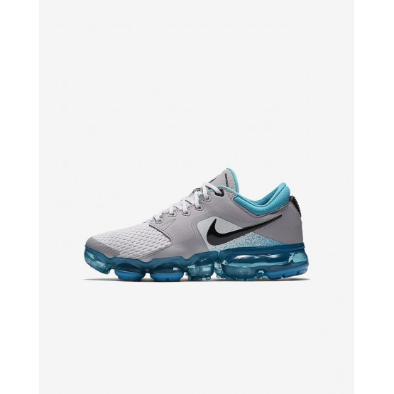 Boys Vast Grey/Dusty Cactus/Atmosphere Grey/Black Nike Air VaporMax Running Shoes 323NVXYQ