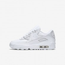 Nike Air Max 90 Leather Lifestyle Shoes For Boys White 331UPCKW