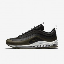 Mens Black/Medium Olive/Light Pumice/Dark Hazel Nike Air Max 97 Ultra 17 HAL Lifestyle Shoes 336CYSPZ