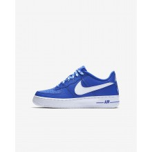 Nike Air Force 1 LV8 NBA Lifestyle Shoes For Boys Game Royal/White 336ZVQOP